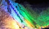オシンコシンの滝ライトアップ(8号)
